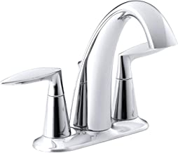 KOHLER Alteo Bathroom Sink Faucet, one-size, Polished Chrome, K-45100-4-CP