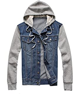 Men's Denim Coat, Beautyfine Autumn Winter Vintage Wash Distressed Jacket Top Blouse Outwear
