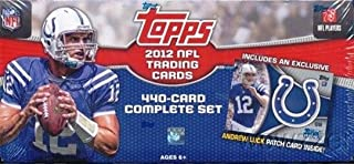 2012 Topps NFL Football EXCLUSIVE Complete 445 Card Factory Set with ANDREW LUCK RC Patch & Special 5 Card ROOKIE Variation Set! Includes RC's of Nick Foles, Russell Wilson, Robert Griffin & Many More!