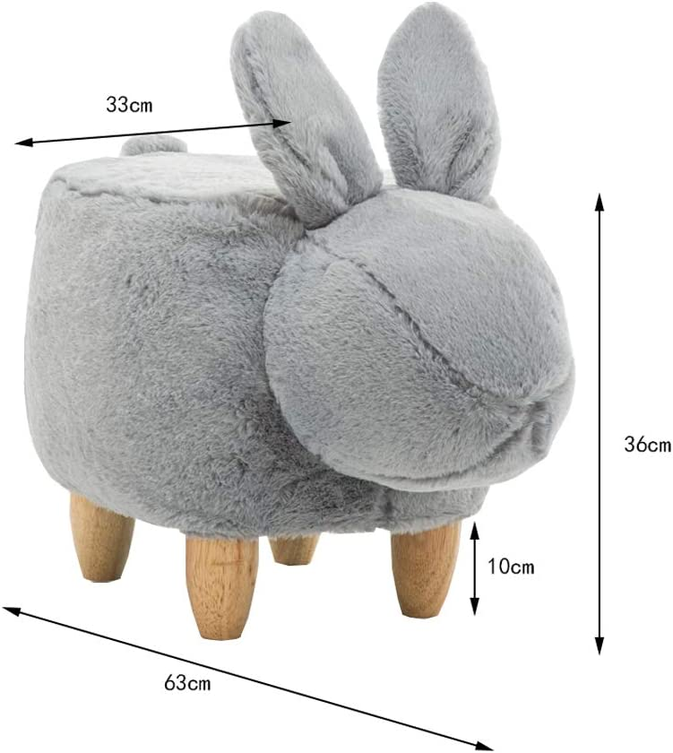 MKJYDM Tabouret chaussures créatives banc moderne minimaliste maison canapé coussin personnalité de la modélisation animale chaise 63x33x36cm tabouret (Color : Beige) Gray