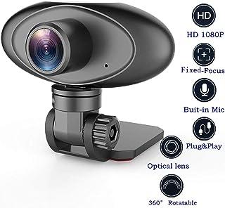 HD 1080P Webcam Noise Reducing Microphone Widescreen Rii RC100 USB Computer Desktop Camera for Video Calling Streaming Rec...