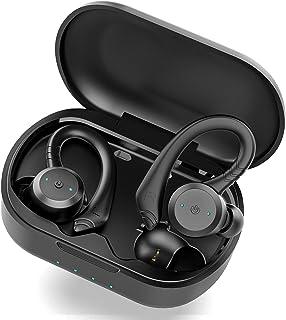 Auriculares Inalambricos Bluetooth 5.1, Retirable Gancho para la Auriculares Bluetooth Deportivos Cascos Inalambricos y HD...