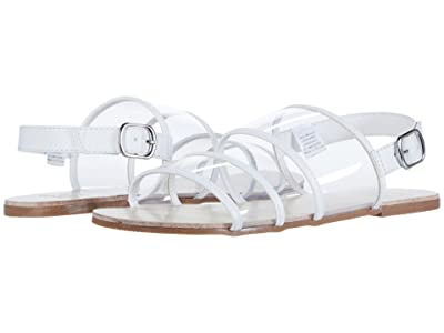Janie and Jack Clear Strap Sandal (Toddler/Little Kid/Big Kid) (White) Girl