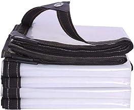 Doorzichtig plastic zeildoek6x8m, Doorzichtige dekzeilen Waterdicht voor zwaar gebruik, Poly Tarp met doorvoertules, Rege...