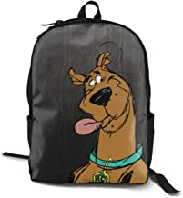 Scooby Doo Stitched Lightweight Backpack Laptop Fits 15 Inch Cushion Straps With Bottle Side Pockets
