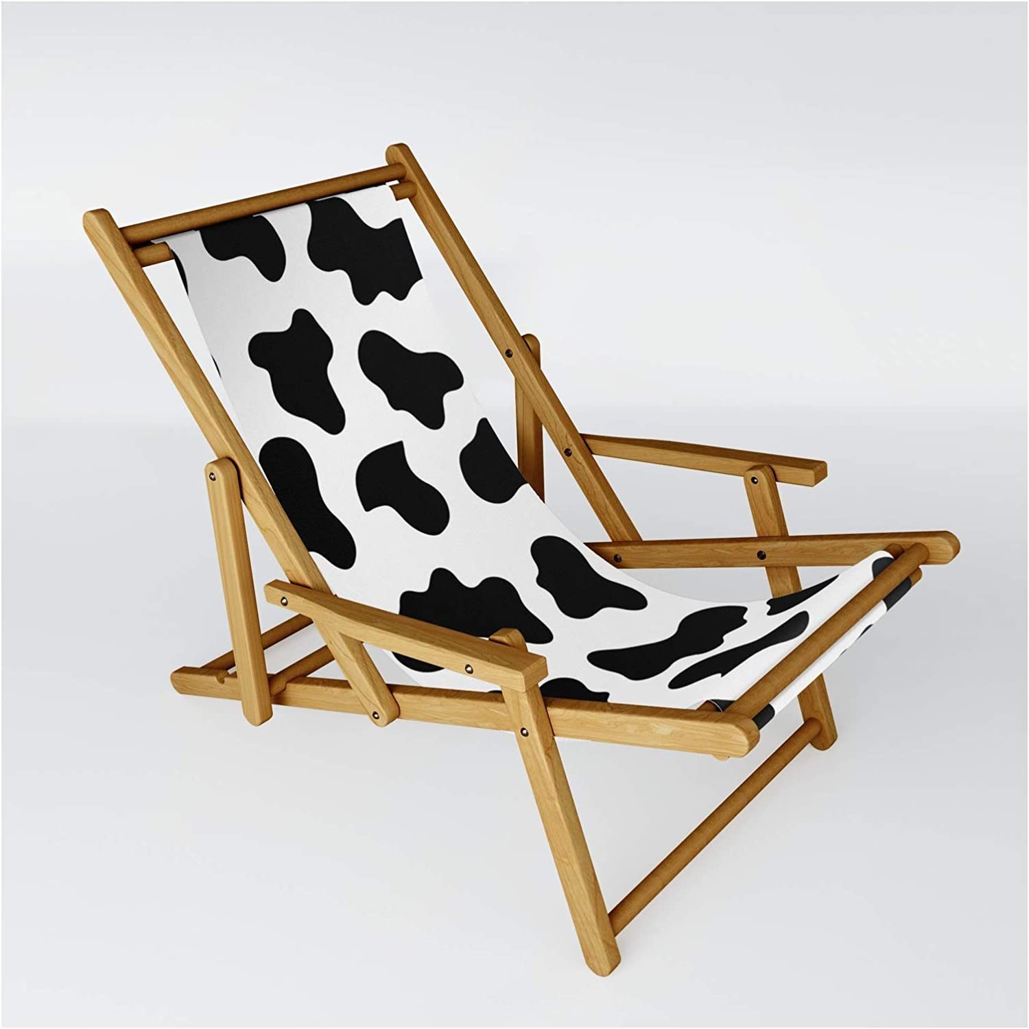 Society6 Moo Cow Print by Kate + on Shipping included Co. Chair Size Sling - One Complete Free Shipping