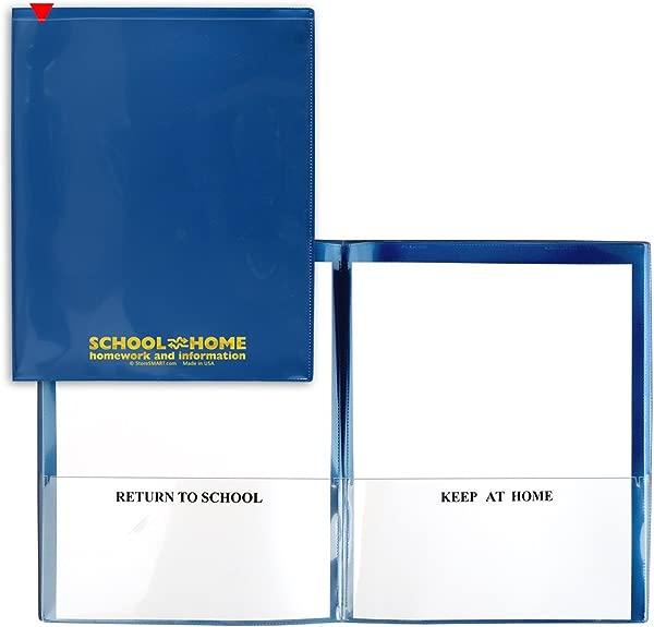 StoreSMART 学校家居文件夹金属蓝色 25 包档案耐用塑料家庭作业和信息 SH900SV MB25