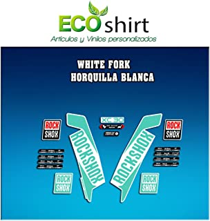 Ecoshirt JH-NK1H-YJ7D Pegatinas Stickers Fork Rock Shox Xc30 2017 Am123 Aufkleber Decals Autocollants Adesivi Forcela, Menta
