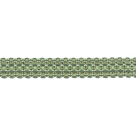 D/ÉCOPRO Lavish 1 inch Wide Green Mist Sage Green Pale Green Gimp Braid Trim Style# 0100VG Color: Sagebrush VNT32 Sold by The Yard