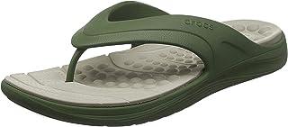 Crocs Reviva Flip, Chanclas Unisex Adulto, Verde (Army Green/Cobblestone 3tq), 39/40 EU