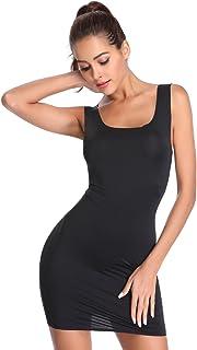 Joyshaper كامل الانزلاق للنساء أسفل الفساتين Camisole الملابس الداخلية قميص نوم قميص النوم سلس مستقيم اللباس النوم النوم