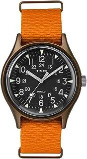 TIMEX Orange Fabric Watch-TW2T10200