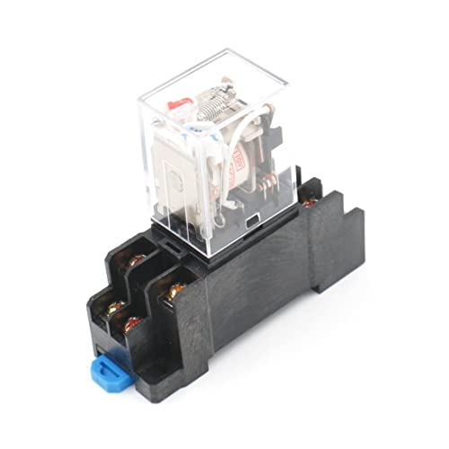 baomain general purpose power relay hh52p ac 110v coil led indicator 8 pin  terminal with din