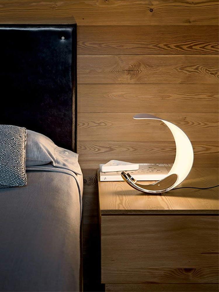 Luceplan curl d76, lampada da tavolo moderna a led con corpo in alluminio pressofuso 1D7600000018