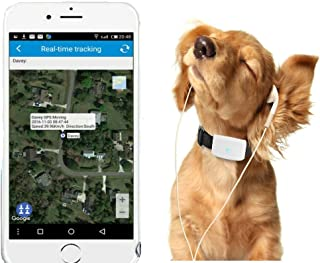 Winnes Mini Traceur GPS étanche, GPS Chien, Traceur GPS Chien Chat Animal Real Time Tracking & Activity Moniteur Tracker t...
