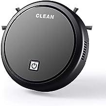 مكنسة كهربائية ذكية روبوتية لجمع الاتربة والغبار، مع بطارية مدمجة، وشحن عبر USB، مكنسة للتنظيف مع قماشة للمسح، اجهزة التنظ...