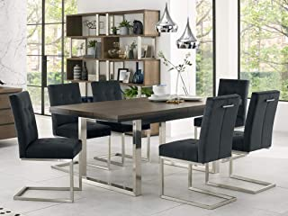 Everhome Designs - New York 7 Piece Extension Dining Table Set