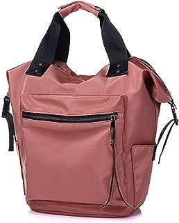 Nylon Waterproof Backpack Women Large Capacity Schoolbags Casual Solid Color Backpack Teen Girls