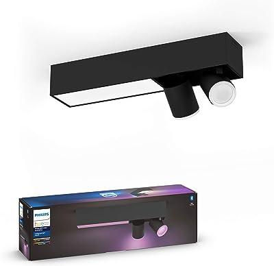 Philips Hue White and Color Ambiance Centris 2 Spots - Noir, compatible Bluetooth