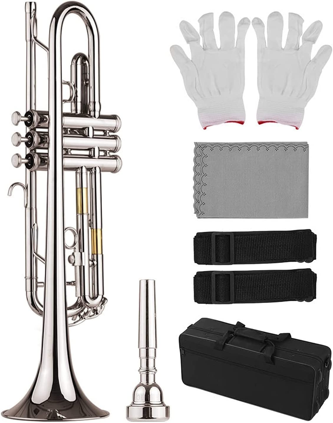 Standard Rare Bb Trumpet Brass Material Plated Selling and selling Nickle Instrument Wind