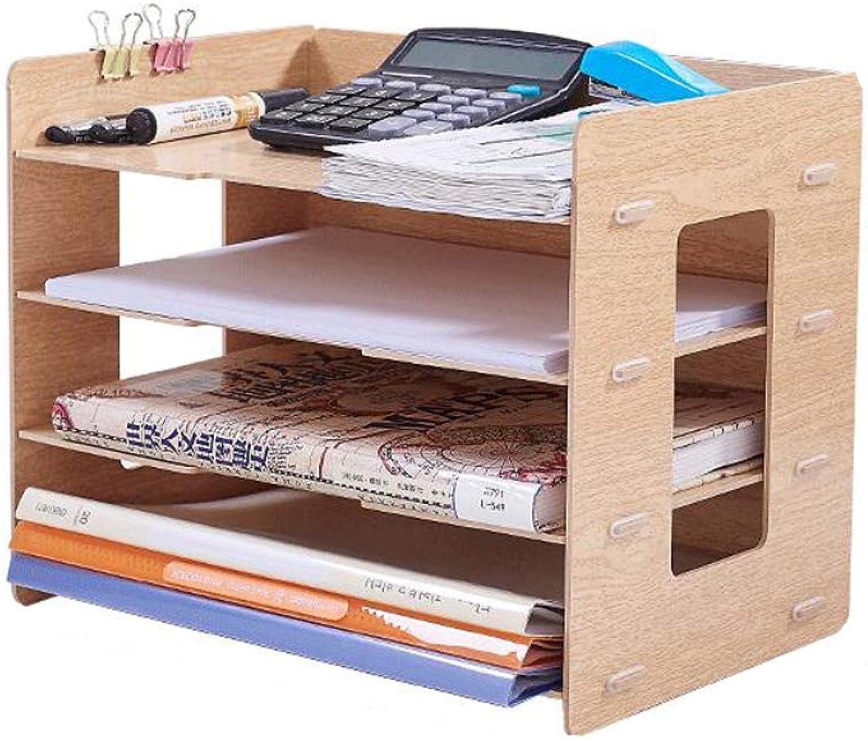 BOOK CASE Bookcase By Aufbewahrungsbox Aus Holz Mehrlagig Buumlcherstaumlnder Aktenhalter Einfache MehrzweckablageWoodFarbe A