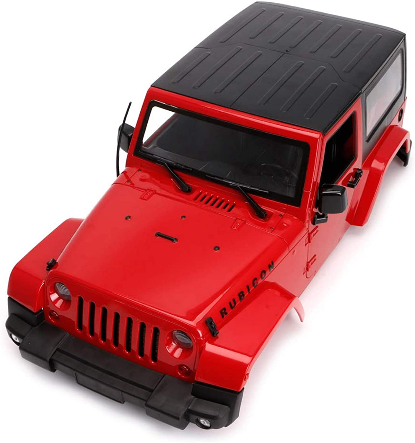 MaskdooHard Plastic Bodies Body Shell Canopy Topless Interiors System Kit Parts for 1 10 RC Crawler Truck SCX10 D90, Remote Control Off-Road Car Pick-up Truck KIT Version DIY Toy Accessories