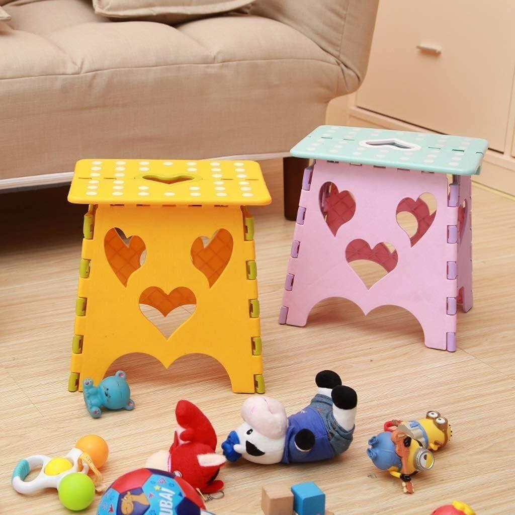 Escabeau pliant - Tabouret pliable en hauteur for enfants et adultes, tabouret de secours pliant (Color : B) G