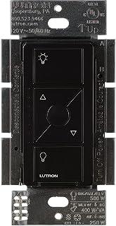 Lutron Caseta Wireless Smart Lighting Dimmer Switch for ELV+ Light Bulbs, PD-5NE-BL, Black,Works with Alexa, Apple HomeKi...