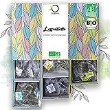 BIO Tee Set | Geschenk-Set | Premium Teesortiment, 6 Sorten, Natürliche Aromen | Probierset 48...