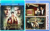 Moulin Rouge & William Shakespeare's Romeo + Juliet with The Brothers Grimm (Blu-ray) Modern Fairy Tale 3 movie set