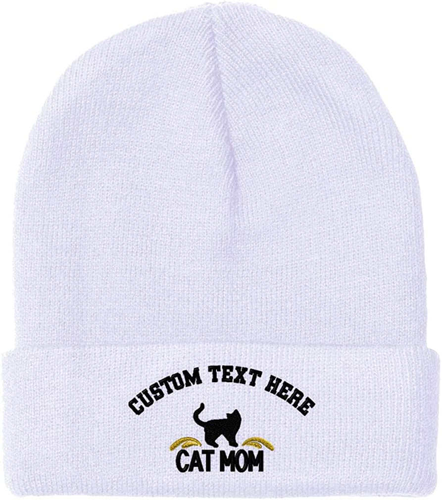 Deluxe Beanies Dealing full price reduction for Men Cat Mom and Silhouette Hats Embroidery B Winter