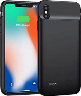 Swaller Battery Case for iPhone X/Xs/10, 4100mAh Ultra Slim Portable Protective Charging Case Extended Rechargeable Battery Pack for iPhone X/Xs (5.8 Inch) (Black)
