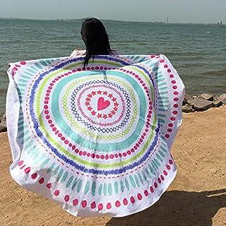 150 * 150 cm Gasa Fresa SUYUN Toalla de Playa Redonda poli/éster Toalla de ba/ño