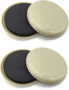 4 Pcs Furiture Movers Sliders,3.5 Inch Round Moving Sliders,Use for Refrigerators,Sofas,Beds,Pianos,Bulky Armoires,Tables