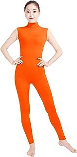Shinningstar Women's Well-fit Spandex Lycra Turtleneck Sleeveless Dance Unitards