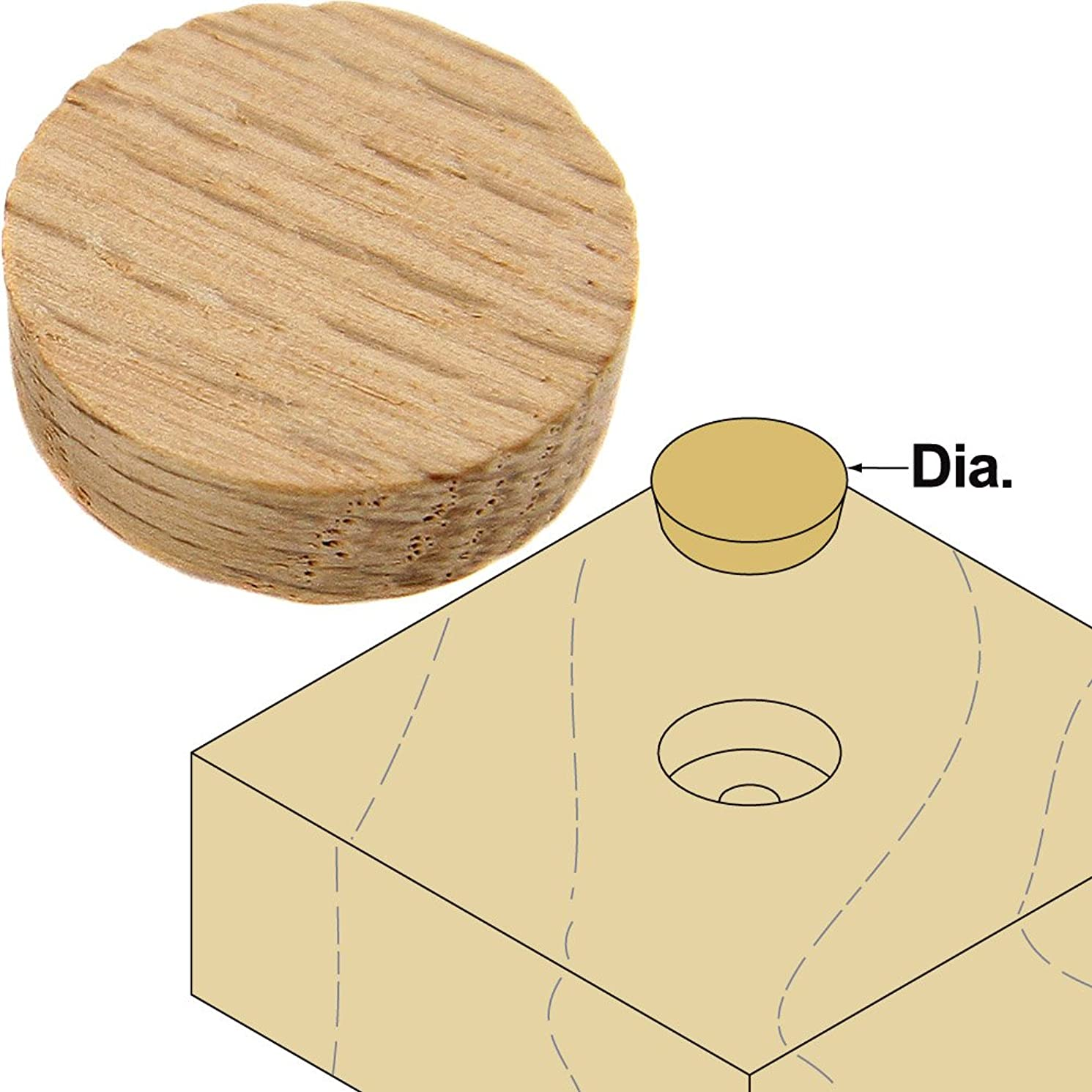 Platte River 800032, Wood Specialties, Buttons & Plugs, 1/2