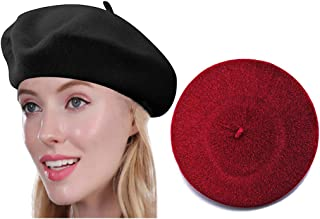 Beret Hat of French Vintage Style, Elegant Soft Stretch Wool Cap, Lightweight Classic Boinas Winter Beanie