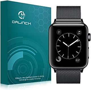 Dalinch Apple Watch 38mm バンド Apple Watch 42mm バンド ステンレスバンド 高級感なステンレス ビジネスに向け 交換バンド 装着簡単 Apple Watch Series 4/3/2//1対応(ブラック)