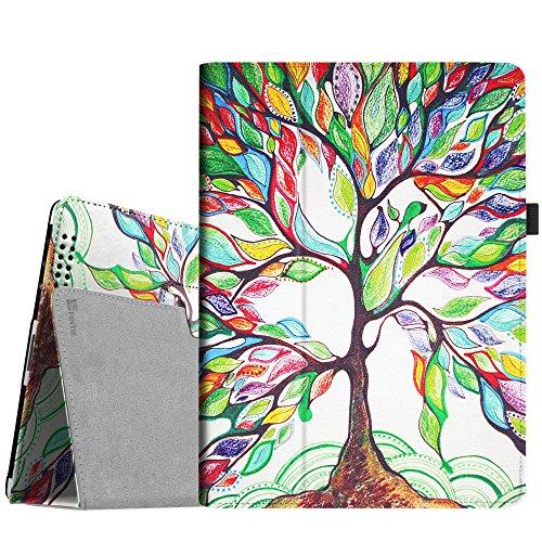 Fintie Custodia per Apple iPad 4 / iPad 3 / iPad 2 in pelle, Slim Fit Folio Case Cover Con Funzione Sleep/Wake per Apple iPad 2 / iPad 3 / iPad 4 - Love Tree