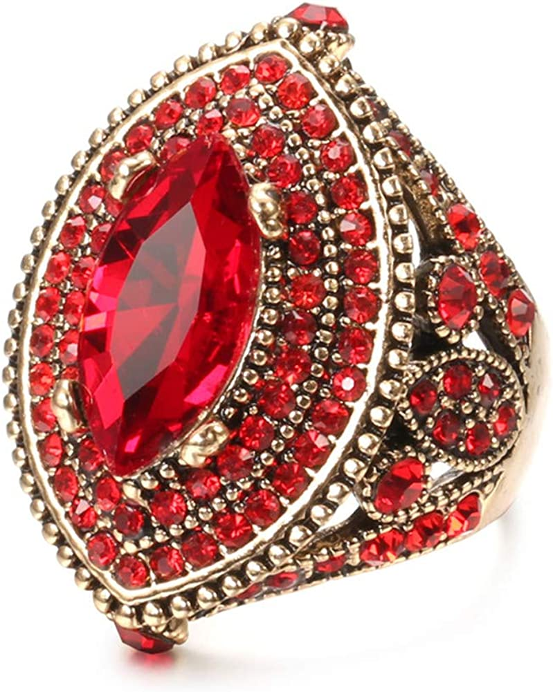 CKHAO Women Outlet SALE Max 58% OFF Ring - 32mm Big Size Plated Antique Gold Turkish Sty