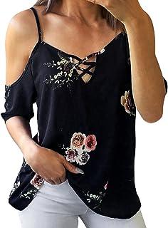 HGWXX7 T-Shirt Women Sexy Off Shoulder Print Chiffon Short Sleeve Tops Blouse