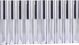 Lurrose 10pcs 10ml Lip Gloss Tubes Bulk with Wand Empty Plastic Lipstick Bottles Lip Gloss Container Cosmetic Supplies for Lipstick Samples DIY (Silver)