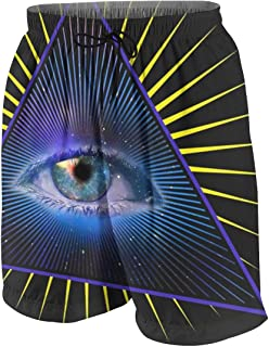 All Seeing Eye Pyramid Symbol Providence Boys Beach Shorts Quick Dry Beach Swim Trunks Kids Swimsuit Beach Shorts