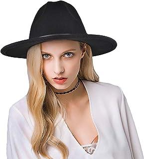 Einskey fedora hat men women cotton wide brim felt hat Panama hat with belt buckle