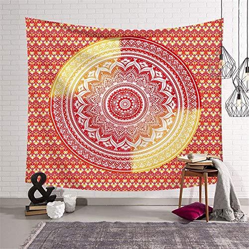 KHKJ Tapiz de Pared de Mandala Indio, Colcha de Yoga, Colcha Hippie Boho, decoración para Colgar en la Pared, Toalla de Playa Bohemia, Tapiz Grande A11 200x150cm