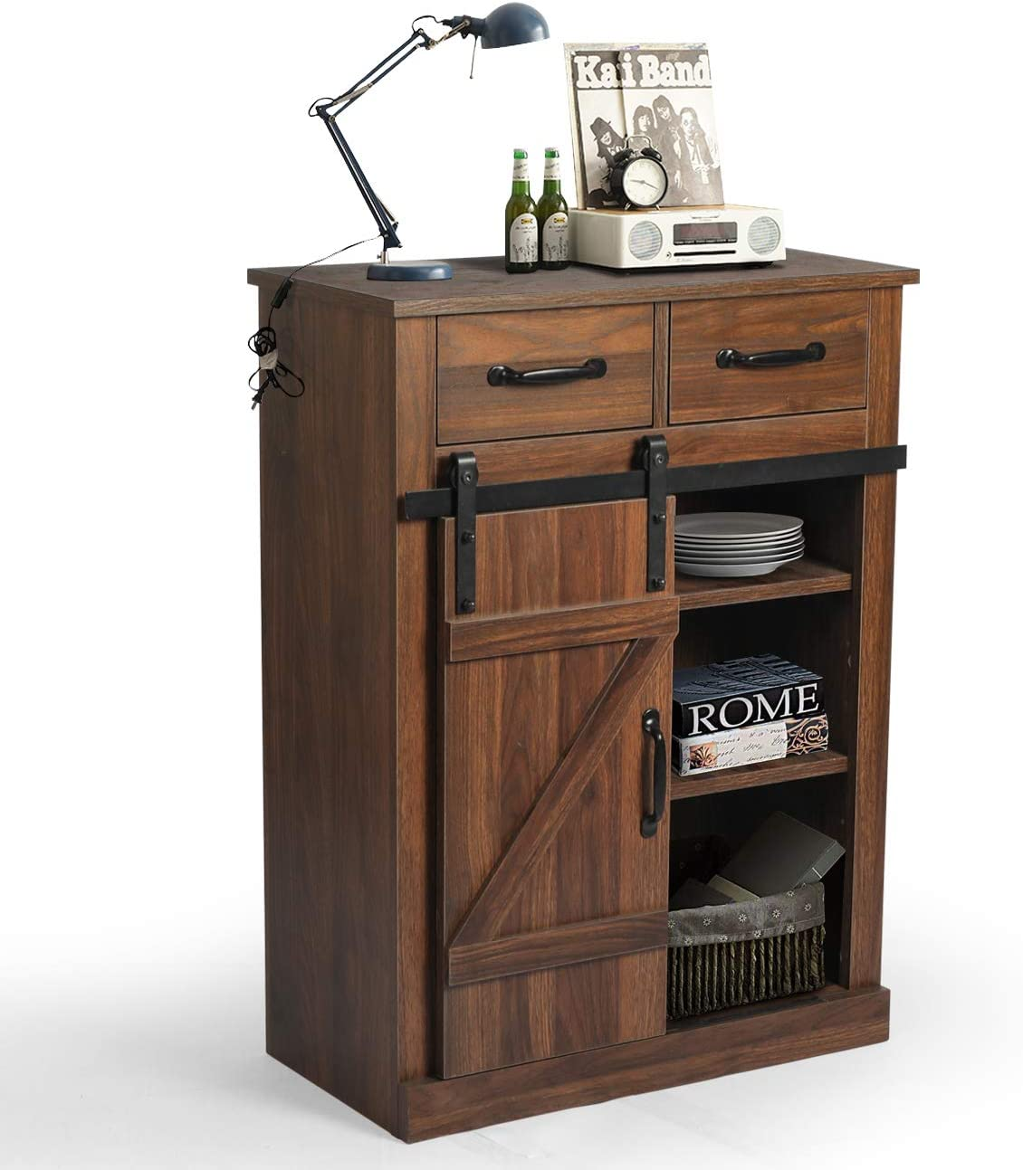 Side Storage Cabinet with Adjustable Our shop Ranking TOP14 most popular Shelf Cupboard Sideboard Mu