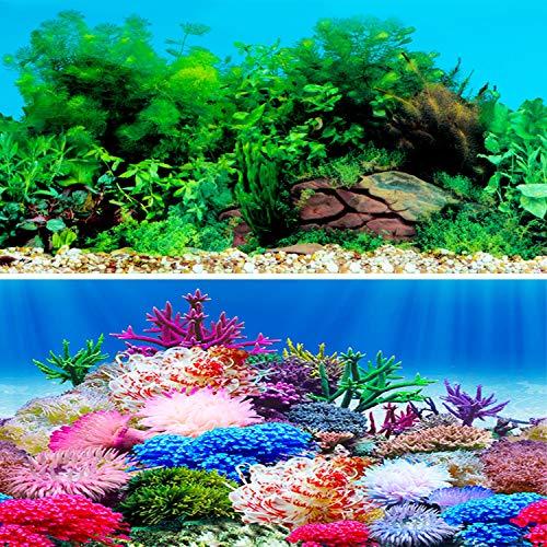 IrisCargo Aquarium-Aufkleber, Hintergrund aus PET für Aquarien, Unterwasser, Poster, Wanddekoration (G-62 x 40 cm)