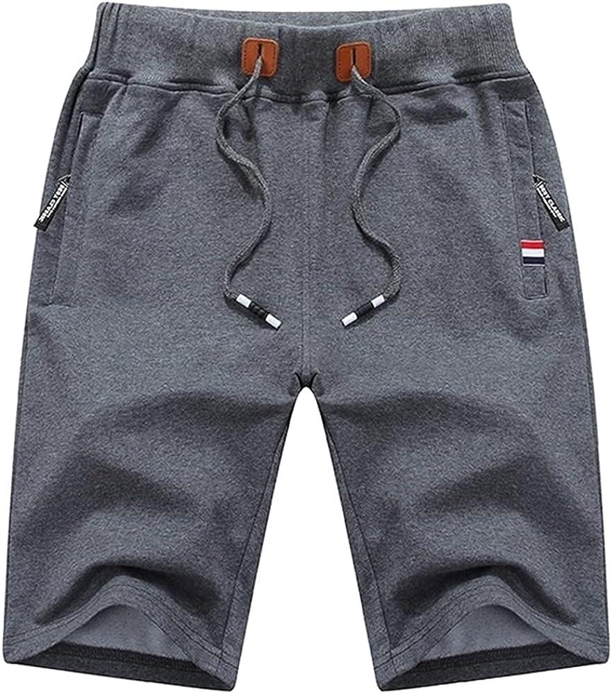 N\P Men's Casual Shorts Very popular! Classic trend rank Summer Waist Male Breeches Black