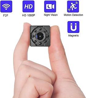 Cámara espía Oculta WiMaker HD 1080P Mini cámara espía WiFi P2P Monitor de Corta Distancia para visualización del teléfono/visión Nocturna/detección de Movimiento/grabación de Bucle de Tarjeta SD