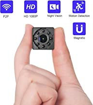 WiMaker Hidden Cameras HD 1080P Mini Spy Cam WiFi P2P Short Distance Monitor for Phone View/Motion Detection/SD Card Loop Recording/Night Vision